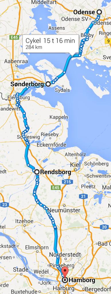 Odense Hamborg rute